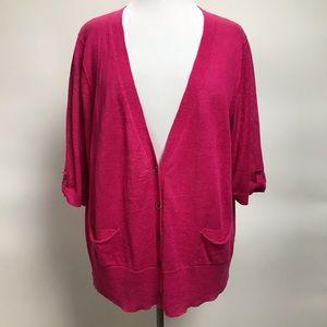 Eileen Fisher Cardigan Sweater Open Front Linen